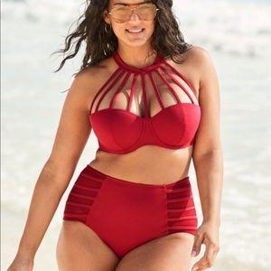 Plus Size High wasted Bikini Red 38G / Large BNWT